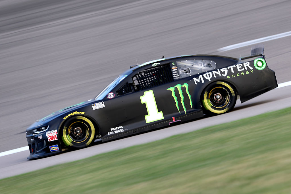 KANSAS CITY, KANSAS - JULY 23: Kurt Busch, driver of the #1 Monster Energy Chevrolet, drives during the NASCAR Cup Series Super Start Batteries 400 Presented by O'Reilly Auto Parts at Kansas Speedway on July 23, 2020 in Kansas City, Kansas. (Photo by Jamie Squire/Getty Images) | Getty Images
