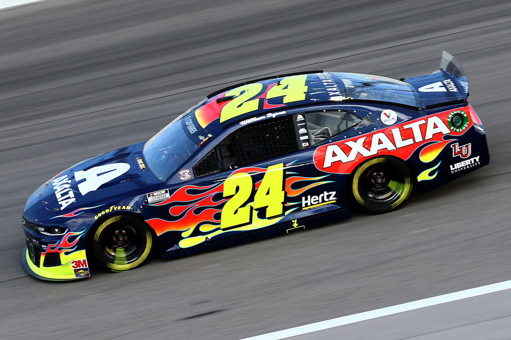 KANSAS CITY, KANSAS - JULY 23: William Byron, driver of the #24 Axalta Chevrolet, drives during the NASCAR Cup Series Super Start Batteries 400 Presented by O'Reilly Auto Parts at Kansas Speedway on July 23, 2020 in Kansas City, Kansas. (Photo by Jamie Squire/Getty Images) | Getty Images