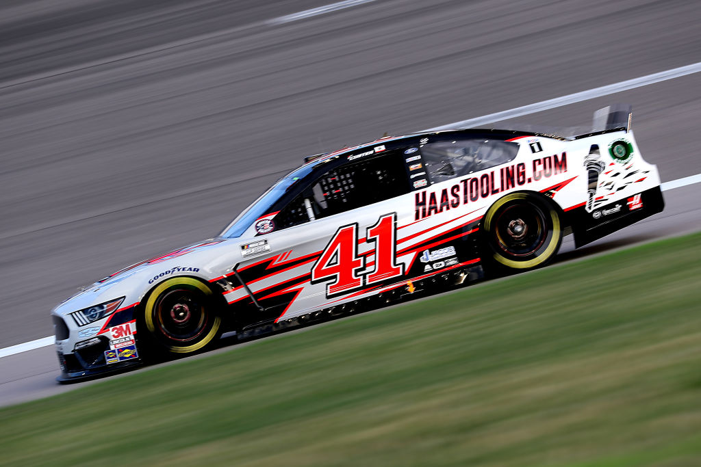 KANSAS CITY, KANSAS - JULY 23: Cole Custer, driver of the #41 HaasTooling.com Ford, drives during the NASCAR Cup Series Super Start Batteries 400 Presented by O'Reilly Auto Parts at Kansas Speedway on July 23, 2020 in Kansas City, Kansas. (Photo by Jamie Squire/Getty Images) | Getty Images