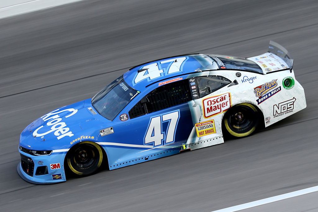 KANSAS CITY, KANSAS - JULY 23: Ricky Stenhouse Jr., driver of the #47 Kroger Chevrolet, drives during the NASCAR Cup Series Super Start Batteries 400 Presented by O'Reilly Auto Parts at Kansas Speedway on July 23, 2020 in Kansas City, Kansas. (Photo by Jamie Squire/Getty Images) | Getty Images