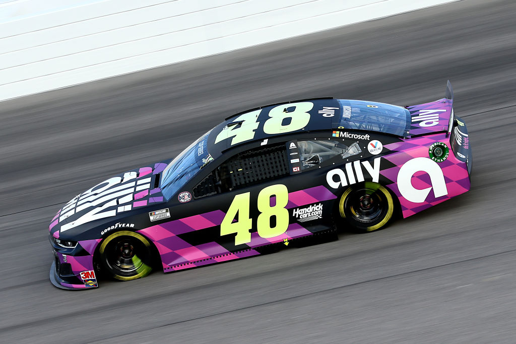 KANSAS CITY, KANSAS - JULY 23: John H. Nemechek, driver of the #38 Digital Ally Ford, drives during the NASCAR Cup Series Super Start Batteries 400 Presented by O'Reilly Auto Parts at Kansas Speedway on July 23, 2020 in Kansas City, Kansas. (Photo by Jamie Squire/Getty Images)   Getty Images