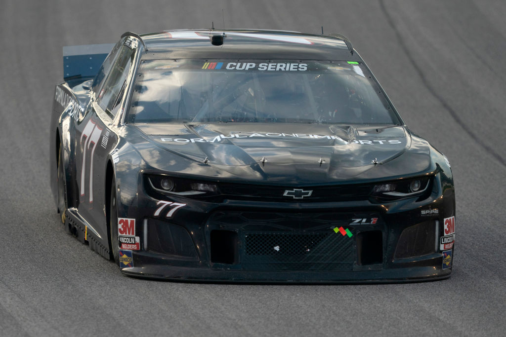 KANSAS CITY, KANSAS - JULY 23: Garrett Smithley, driver of the #77 Formula One Imports Chevrolet, drives during the NASCAR Cup Series Super Start Batteries 400 Presented by O'Reilly Auto Parts at Kansas Speedway on July 23, 2020 in Kansas City, Kansas. (Photo by Kyle Rivas/Getty Images)   Getty Images