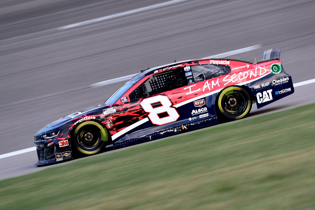 KANSAS CITY, KANSAS - JULY 23: Tyler Reddick, driver of the #8 I Am Second Chevrolet, drives during the NASCAR Cup Series Super Start Batteries 400 Presented by O'Reilly Auto Parts at Kansas Speedway on July 23, 2020 in Kansas City, Kansas. (Photo by Jamie Squire/Getty Images) | Getty Images