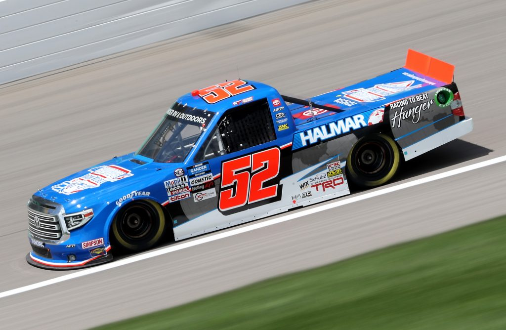 KANSAS CITY, KANSAS - JULY 25: Stewart Friesen, driver of the #52 Halmar Racing To Beat Hunger Toyota, drives during the NASCAR Gander RV & Outdoors Truck Series e.p.t 200 at Kansas Speedway on July 25, 2020 in Kansas City, Kansas. (Photo by Jamie Squire/Getty Images) | Getty Images