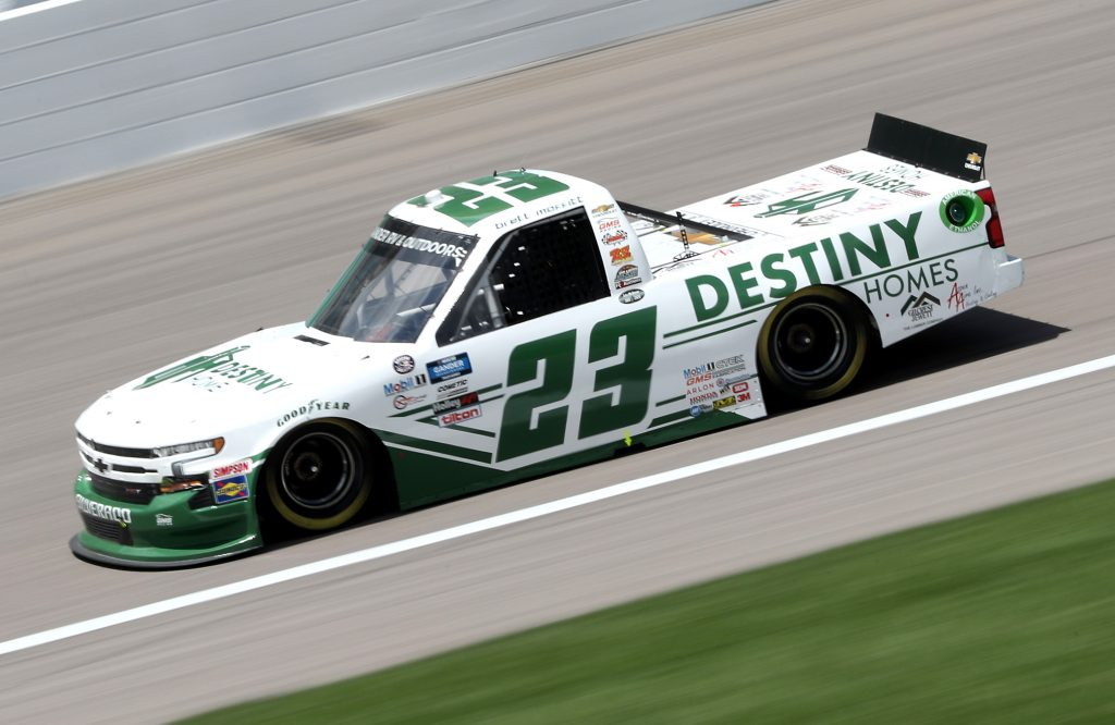 KANSAS CITY, KANSAS - JULY 25: Brett Moffitt, driver of the #23 Destiny Homes Chevrolet, drives during the NASCAR Gander RV & Outdoors Truck Series e.p.t 200 at Kansas Speedway on July 25, 2020 in Kansas City, Kansas. (Photo by Jamie Squire/Getty Images) | Getty Images