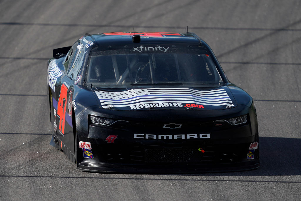 KANSAS CITY, KANSAS - JULY 25: Kyle Weatherman, driver of the #47 Chevrolet, drives during the NASCAR Xfinity Series Kansas Lottery 250 at Kansas Speedway on July 25, 2020 in Kansas City, Kansas. (Photo by Kyle Rivas/Getty Images) | Getty Images