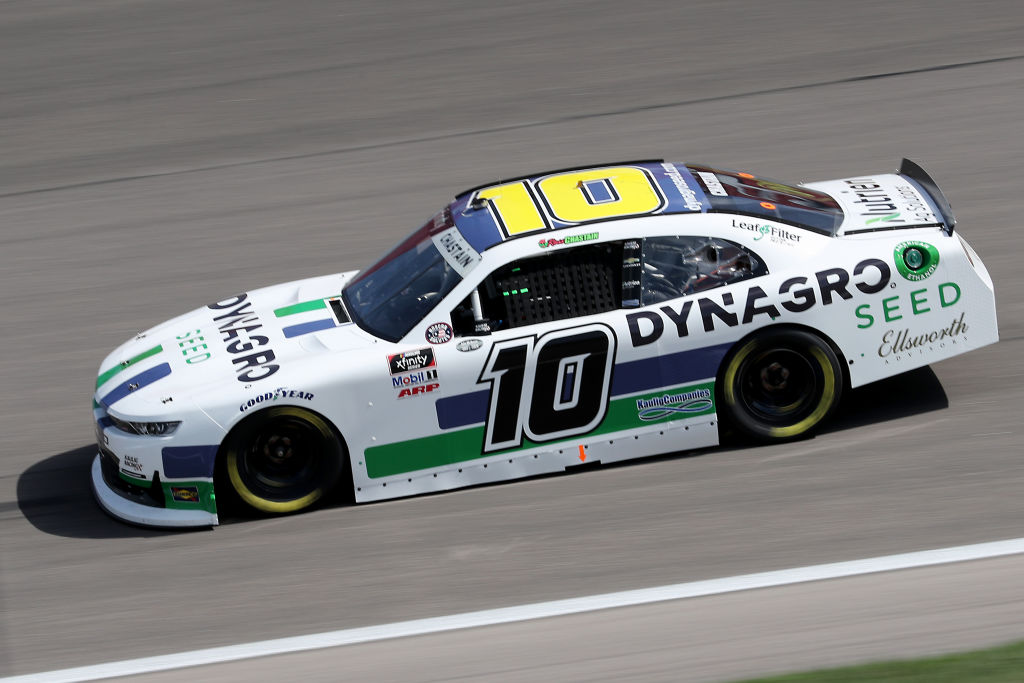 KANSAS CITY, KANSAS - JULY 25: Ross Chastain, driver of the #10 Dyna-Gro Seed Chevrolet, drives during the NASCAR Xfinity Series Kansas Lottery 250 at Kansas Speedway on July 25, 2020 in Kansas City, Kansas. (Photo by Jamie Squire/Getty Images) | Getty Images