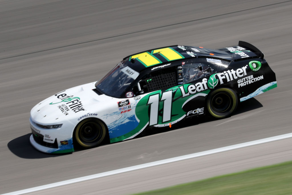 KANSAS CITY, KANSAS - JULY 25: Justin Haley, driver of the #11 LeafFilter Gutter Protection Chevrolet, drives during the NASCAR Xfinity Series Kansas Lottery 250 at Kansas Speedway on July 25, 2020 in Kansas City, Kansas. (Photo by Jamie Squire/Getty Images) | Getty Images