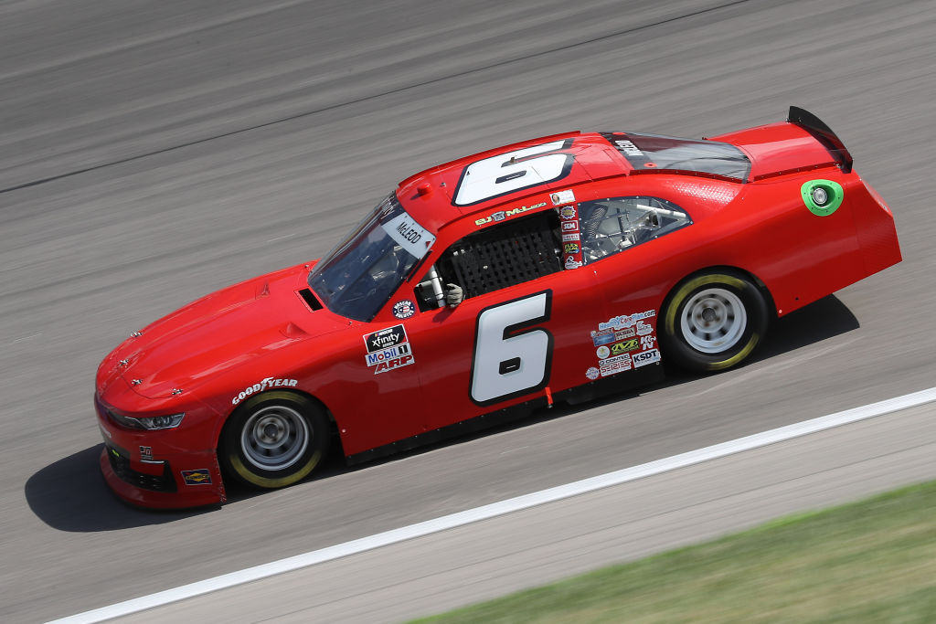 KANSAS CITY, KANSAS - JULY 25: BJ McLeod, driver of the #6 TeamJDMotorsports.com Chevrolet, drives during the NASCAR Xfinity Series Kansas Lottery 250 at Kansas Speedway on July 25, 2020 in Kansas City, Kansas. (Photo by Jamie Squire/Getty Images) | Getty Images
