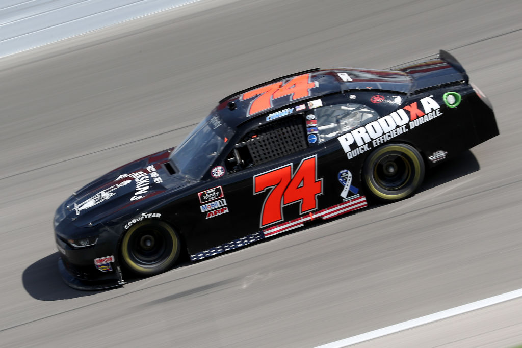 KANSAS CITY, KANSAS - JULY 25: Bayley Currey, driver of the #74 Chevrolet, drives during the NASCAR Xfinity Series Kansas Lottery 250 at Kansas Speedway on July 25, 2020 in Kansas City, Kansas. (Photo by Jamie Squire/Getty Images) | Getty Images
