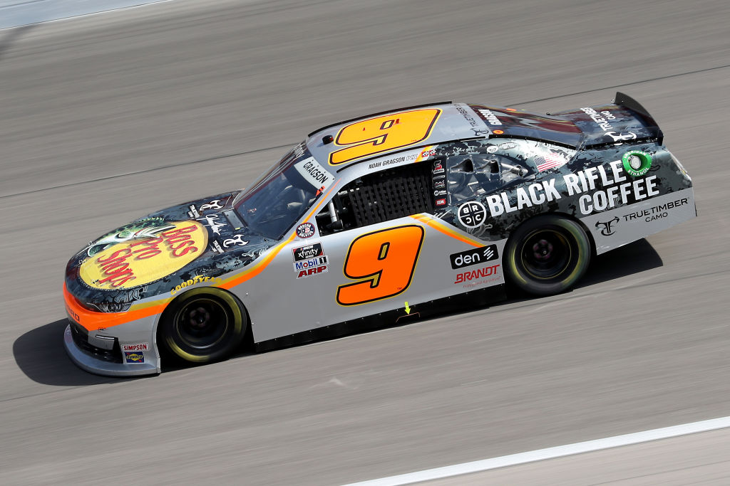 KANSAS CITY, KANSAS - JULY 25: Noah Gragson, driver of the #9 Bass Pro Shops/TrueTimber Camo Chevrolet, drives during the NASCAR Xfinity Series Kansas Lottery 250 at Kansas Speedway on July 25, 2020 in Kansas City, Kansas. (Photo by Jamie Squire/Getty Images) | Getty Images