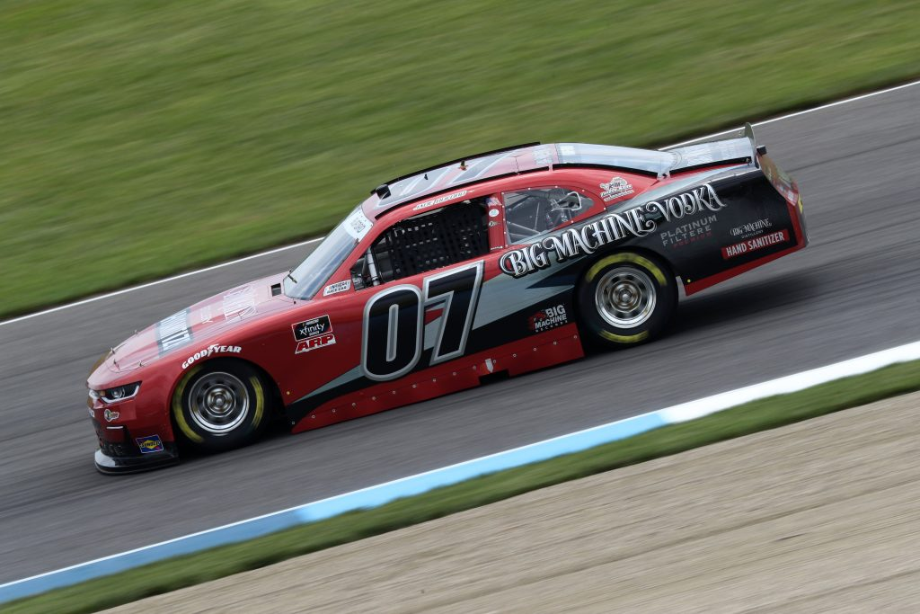 INDIANAPOLIS, INDIANA - JULY 03: Jade Buford, driver of the #07 Big Machine Distillery Chevrolet, drives during practice for the NASCAR Xfinity Series Pennzoil 150 at the Brickyard at Indianapolis Motor Speedway on July 03, 2020 in Indianapolis, Indiana. (Photo by Jamie Squire/Getty Images) | Getty Images
