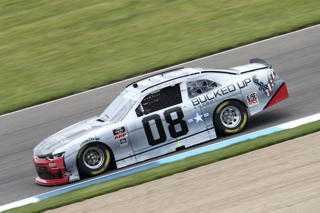 INDIANAPOLIS, INDIANA - JULY 03: Joe Graf Jr., driver of the #08 Bucked Up Energy Chevrolet, drives during practice for the NASCAR Xfinity Series Pennzoil 150 at the Brickyard at Indianapolis Motor Speedway on July 03, 2020 in Indianapolis, Indiana. (Photo by Jamie Squire/Getty Images) | Getty Images