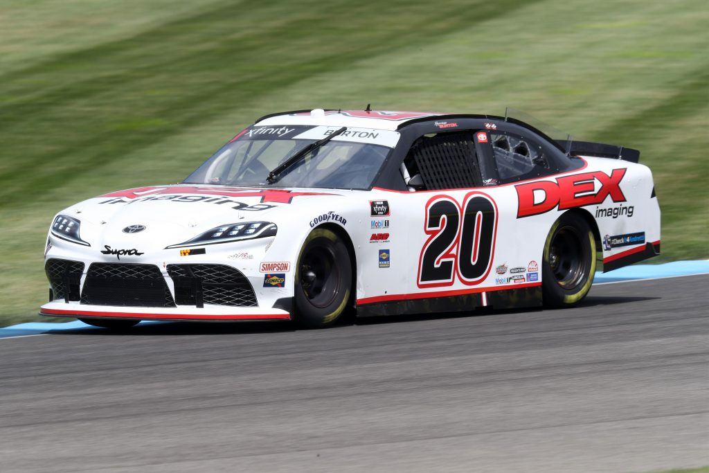 INDIANAPOLIS, INDIANA - JULY 03: Harrison Burton, driver of the #20 DEX Imaging Toyota, races during practice for the NASCAR Xfinity Series Pennzoil 150 at the Brickyard at Indianapolis Motor Speedway on July 03, 2020 in Indianapolis, Indiana. (Photo by Jamie Squire/Getty Images) | Getty Images