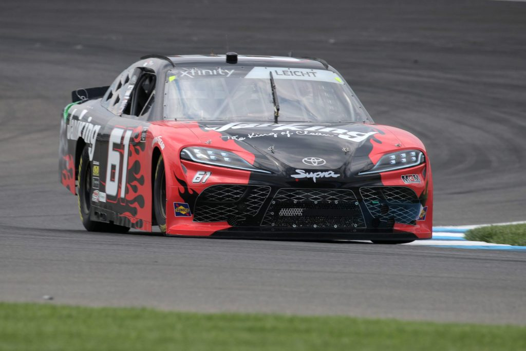 INDIANAPOLIS, INDIANA - JULY 03: Stephen Leicht, driver of the #61 JANIKING Toyota, races during practice for the NASCAR Xfinity Series Pennzoil 150 at the Brickyard at Indianapolis Motor Speedway on July 03, 2020 in Indianapolis, Indiana. (Photo by Chris Graythen/Getty Images) | Getty Images