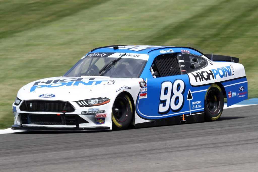 INDIANAPOLIS, INDIANA - JULY 03: Chase Briscoe, driver of the #98 Highpoint.com Ford, races during practice for the NASCAR Xfinity Series Pennzoil 150 at the Brickyard at Indianapolis Motor Speedway on July 03, 2020 in Indianapolis, Indiana. (Photo by Jamie Squire/Getty Images)   Getty Images