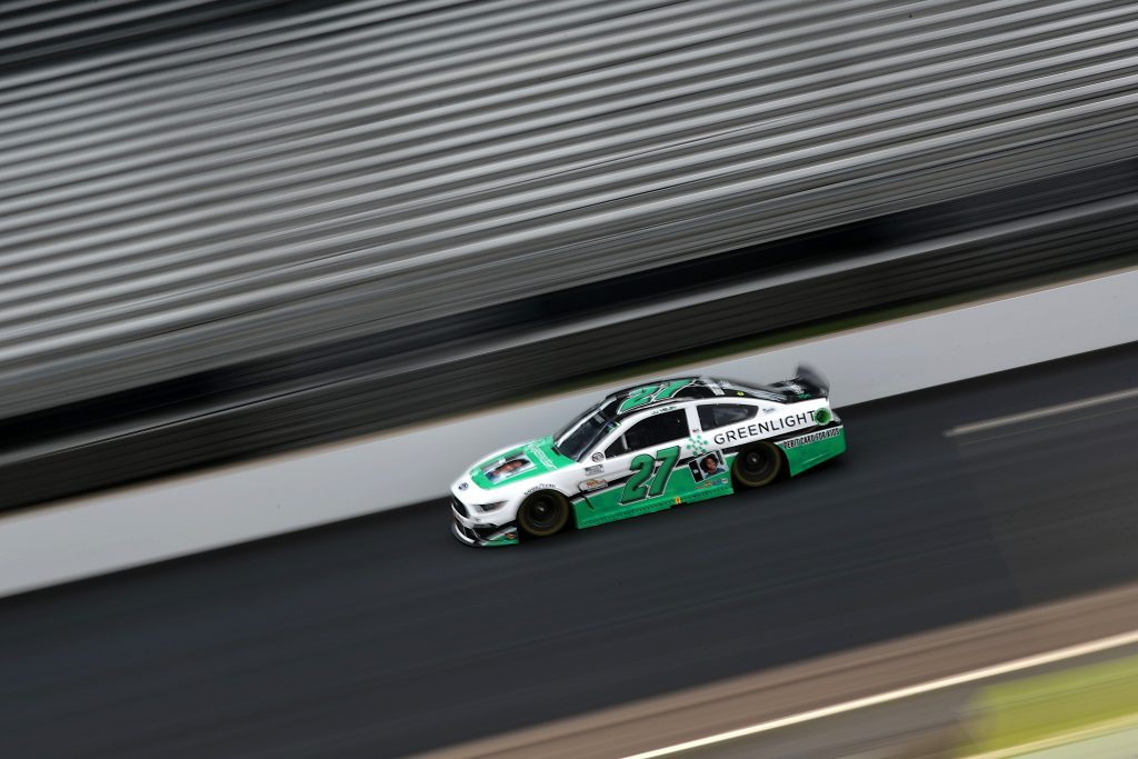 INDIANAPOLIS, INDIANA - JULY 05: JJ Yeley, driver of the #27 Ford, drives during the NASCAR Cup Series Big Machine Hand Sanitizer 400 Powered by Big Machine Records at Indianapolis Motor Speedway on July 05, 2020 in Indianapolis, Indiana. (Photo by Chris Graythen/Getty Images) | Getty Images