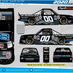 Rendering of Angela Ruch's NASCAR vehicle to #BackTheBlue for @WoundedBlue