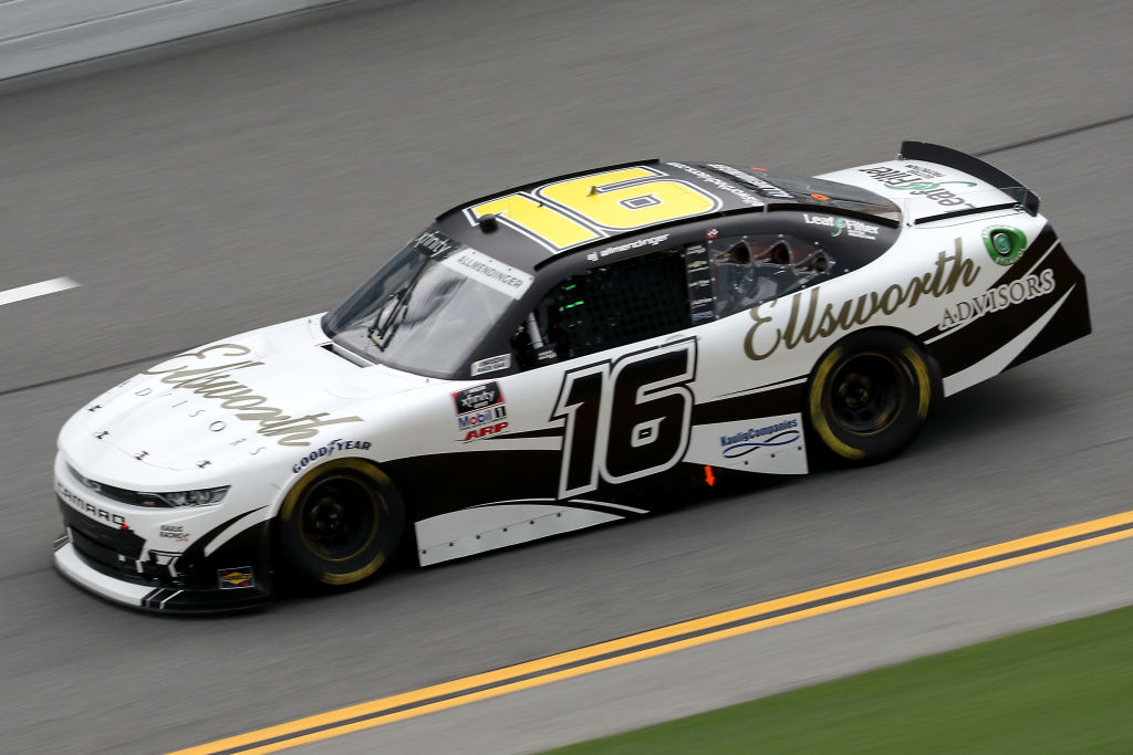 DAYTONA BEACH, FLORIDA - AUGUST 15: AJ Allmendinger, driver of the #16 Ellsworth Advisors Chevrolet, drives during the NASCAR Xfinity Series UNOH 188 at Daytona International Speedway on August 15, 2020 in Daytona Beach, Florida. (Photo by Chris Graythen/Getty Images) | Getty Images