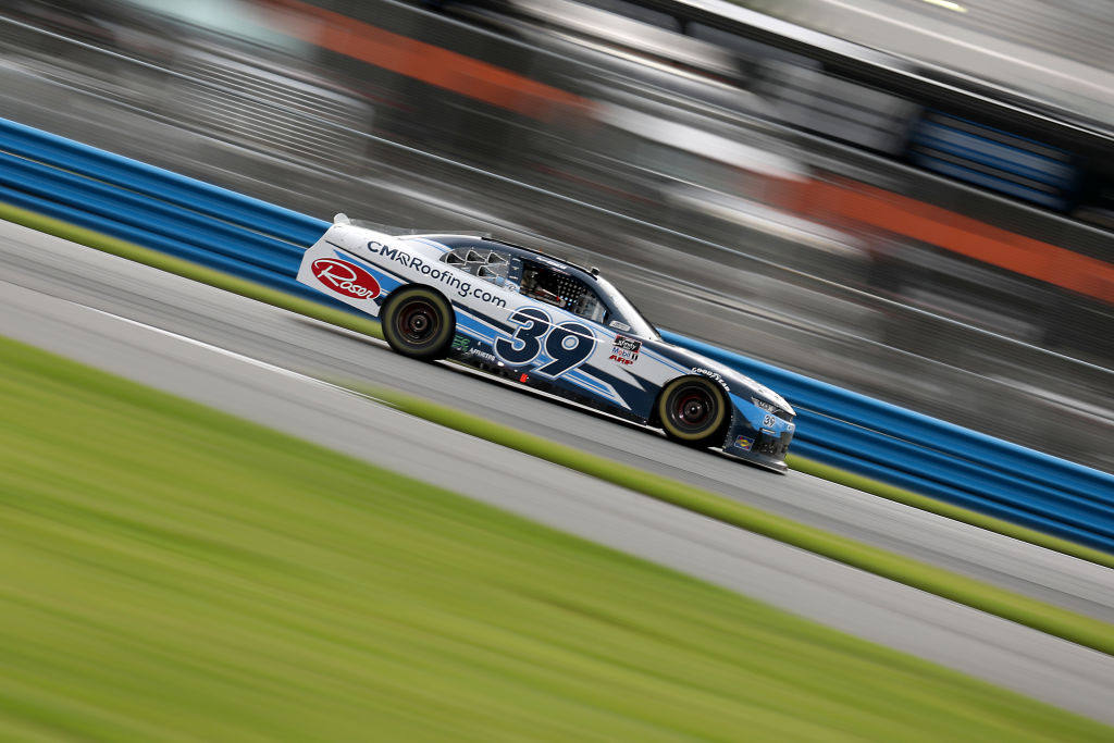 DAYTONA BEACH, FLORIDA - AUGUST 15: Ryan Sieg, driver of the #39 CMRRoofing.com Chevrolet, drives during the NASCAR Xfinity Series UNOH 188 at Daytona International Speedway on August 15, 2020 in Daytona Beach, Florida. (Photo by Chris Graythen/Getty Images) | Getty Images