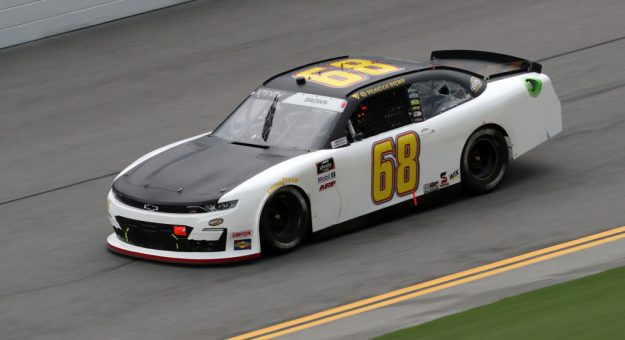 DAYTONA BEACH, FLORIDA - AUGUST 15: Brandon Brown, driver of the #68 BMS Chevrolet, drives during the NASCAR Xfinity Series UNOH 188 at Daytona International Speedway on August 15, 2020 in Daytona Beach, Florida. (Photo by Chris Graythen/Getty Images) | Getty Images