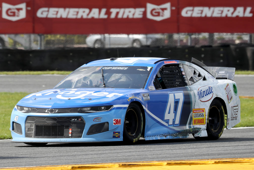 DAYTONA BEACH, FLORIDA - AUGUST 16: Ricky Stenhouse Jr., driver of the #47 Kroger Chevrolet, drives during the NASCAR Cup Series Go Bowling 235 at Daytona International Speedway on August 16, 2020 in Daytona Beach, Florida. (Photo by Chris Graythen/Getty Images) | Getty Images