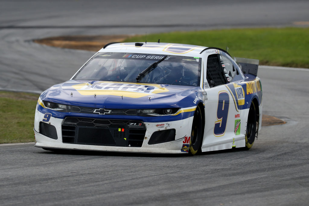 DAYTONA BEACH, FLORIDA - AUGUST 16: Chase Elliott, driver of the #9 NAPA Auto Parts Chevrolet, drives during the NASCAR Cup Series Go Bowling 235 at Daytona International Speedway on August 16, 2020 in Daytona Beach, Florida. (Photo by Chris Graythen/Getty Images) | Getty Images