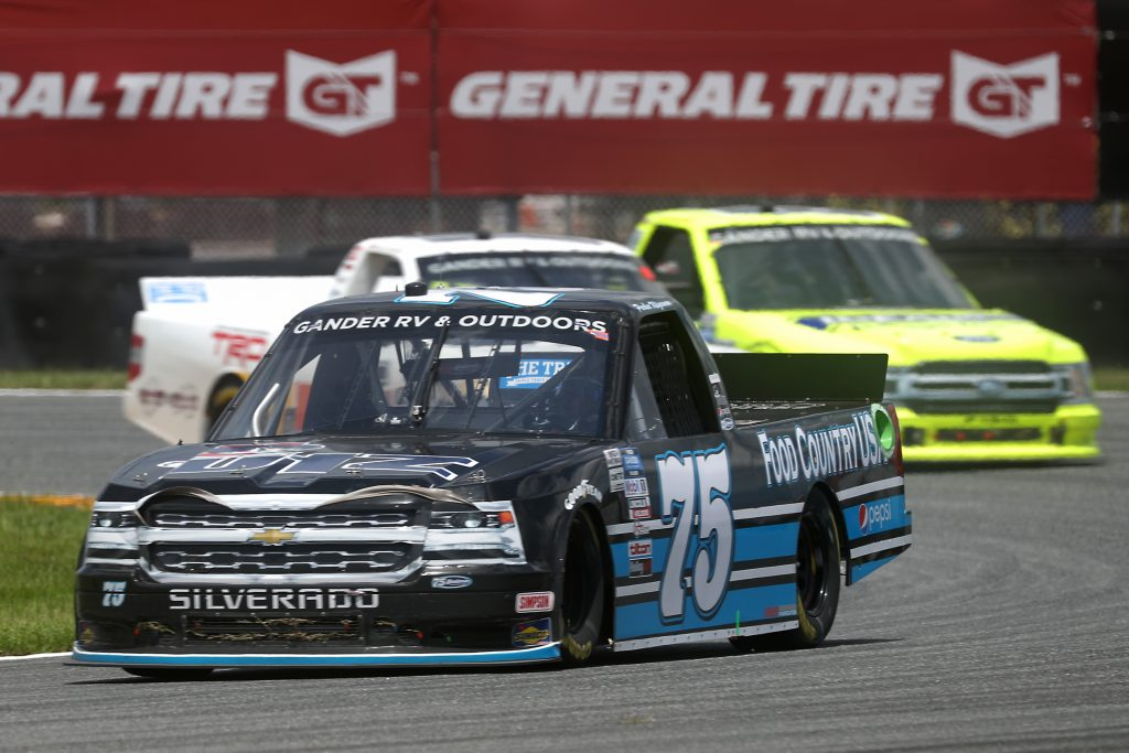 DAYTONA BEACH, FLORIDA - AUGUST 16: Parker Kligerman, driver of the #75 Food Country USA Chevrolet, drives during the NASCAR Gander RV & Outdoors Truck Series Sunoco 159 at Daytona International Speedway on August 16, 2020 in Daytona Beach, Florida. (Photo by Chris Graythen/Getty Images) | Getty Images