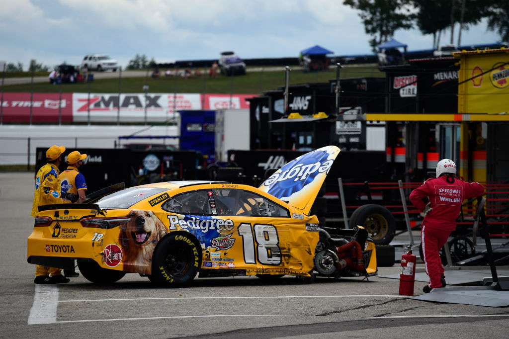 Kyle Busch loses tire; finishes last at New Hampshire ...
