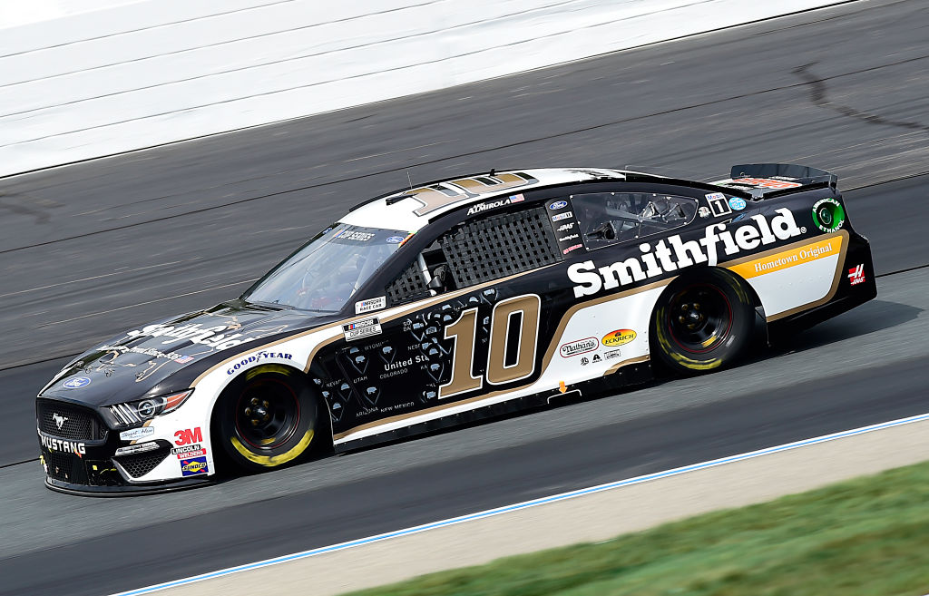 LOUDON, NEW HAMPSHIRE - AUGUST 02: Aric Almirola, driver of the #10 Smithfield Hometown Original Ford, drives during the NASCAR Cup Series Foxwoods Resort Casino 301 at New Hampshire Motor Speedway on August 02, 2020 in Loudon, New Hampshire. (Photo by Jared C. Tilton/Getty Images) | Getty Images