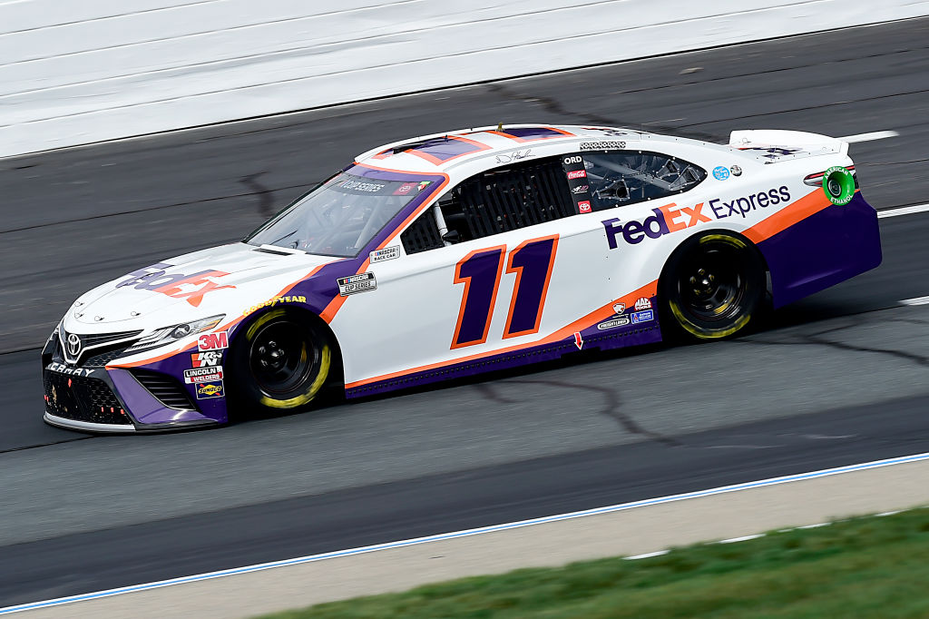 LOUDON, NEW HAMPSHIRE - AUGUST 02: Denny Hamlin, driver of the #11 FedEx Express Toyota, drives during the NASCAR Cup Series Foxwoods Resort Casino 301 at New Hampshire Motor Speedway on August 02, 2020 in Loudon, New Hampshire. (Photo by Jared C. Tilton/Getty Images) | Getty Images