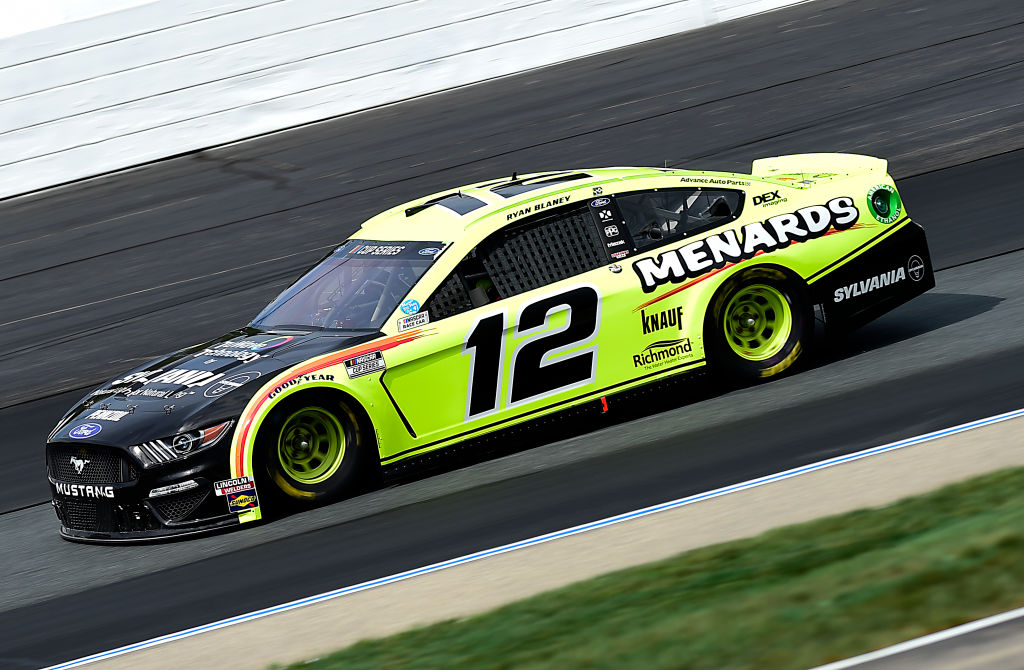 LOUDON, NEW HAMPSHIRE - AUGUST 02: Ryan Blaney, driver of the #12 Menards/Sylvania Ford, drives during the NASCAR Cup Series Foxwoods Resort Casino 301 at New Hampshire Motor Speedway on August 02, 2020 in Loudon, New Hampshire. (Photo by Jared C. Tilton/Getty Images) | Getty Images