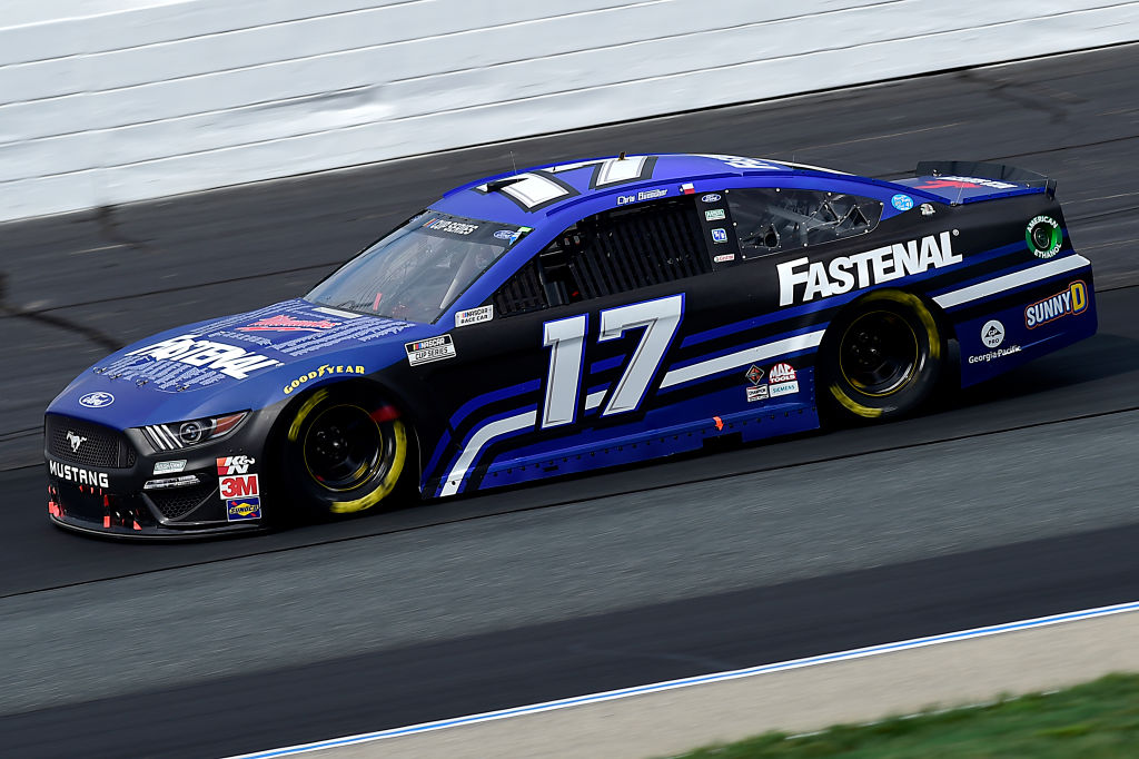 LOUDON, NEW HAMPSHIRE - AUGUST 02: Chris Buescher, driver of the #17 Fastenal Ford, drives during the NASCAR Cup Series Foxwoods Resort Casino 301 at New Hampshire Motor Speedway on August 02, 2020 in Loudon, New Hampshire. (Photo by Jared C. Tilton/Getty Images) | Getty Images