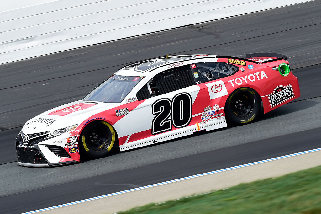 LOUDON, NEW HAMPSHIRE - AUGUST 02: Erik Jones, driver of the #20 Toyota Camry Toyota, drives during the NASCAR Cup Series Foxwoods Resort Casino 301 at New Hampshire Motor Speedway on August 02, 2020 in Loudon, New Hampshire. (Photo by Jared C. Tilton/Getty Images) | Getty Images