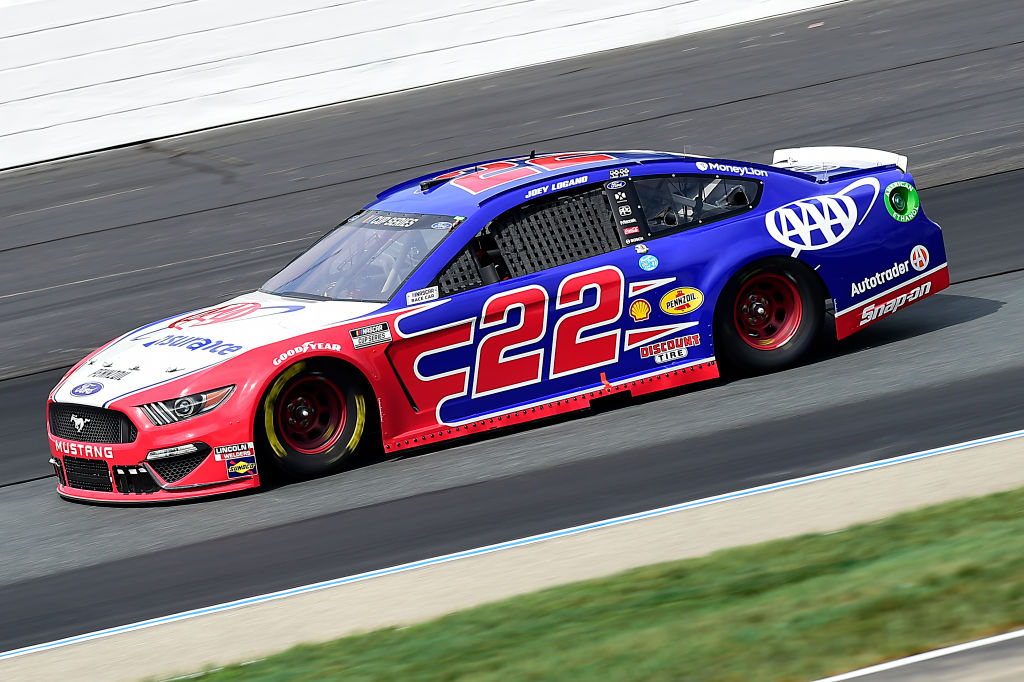 LOUDON, NEW HAMPSHIRE - AUGUST 02: Joey Logano, driver of the #22 AAA Insurance Ford, drives during the NASCAR Cup Series Foxwoods Resort Casino 301 at New Hampshire Motor Speedway on August 02, 2020 in Loudon, New Hampshire. (Photo by Jared C. Tilton/Getty Images) | Getty Images