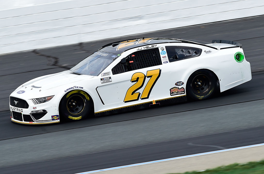 LOUDON, NEW HAMPSHIRE - AUGUST 02: JJ Yeley, driver of the #27 Ford, drives during the NASCAR Cup Series Foxwoods Resort Casino 301 at New Hampshire Motor Speedway on August 02, 2020 in Loudon, New Hampshire. (Photo by Jared C. Tilton/Getty Images) | Getty Images
