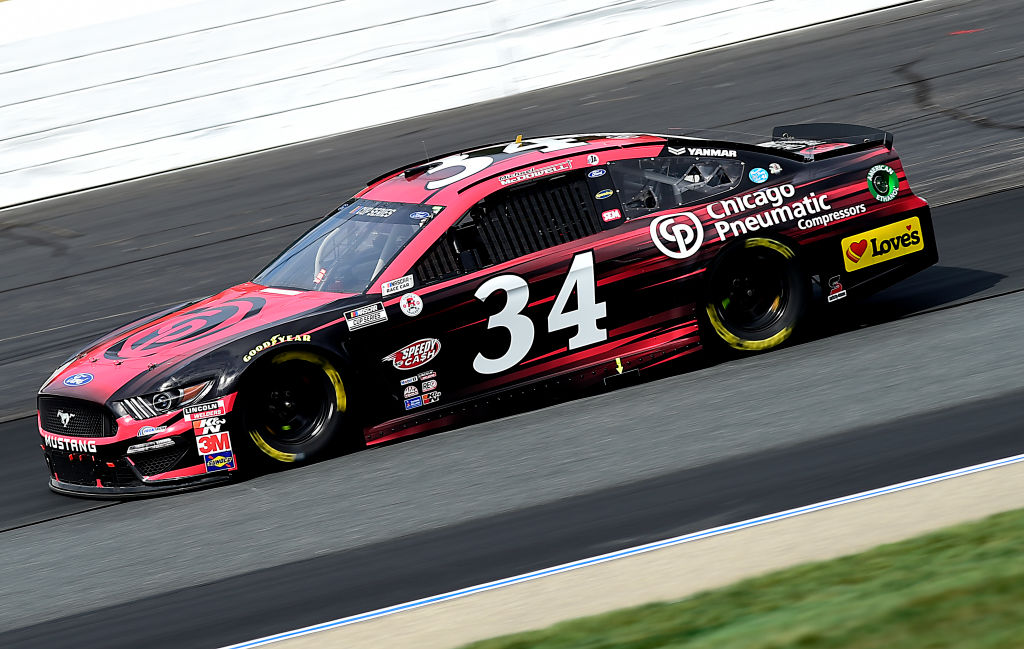 LOUDON, NEW HAMPSHIRE - AUGUST 02: Michael McDowell, driver of the #34 Chicago Pnuematic Ford, drives during the NASCAR Cup Series Foxwoods Resort Casino 301 at New Hampshire Motor Speedway on August 02, 2020 in Loudon, New Hampshire. (Photo by Jared C. Tilton/Getty Images) | Getty Images