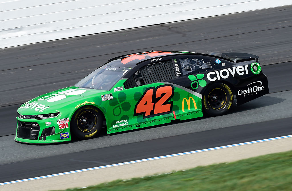 LOUDON, NEW HAMPSHIRE - AUGUST 02: Matt Kenseth, driver of the #42 Clover Chevrolet, drives during the NASCAR Cup Series Foxwoods Resort Casino 301 at New Hampshire Motor Speedway on August 02, 2020 in Loudon, New Hampshire. (Photo by Jared C. Tilton/Getty Images) | Getty Images
