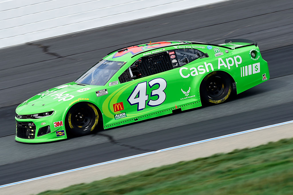 LOUDON, NEW HAMPSHIRE - AUGUST 02: Bubba Wallace, driver of the #43 Cash App Chevrolet, drives during the NASCAR Cup Series Foxwoods Resort Casino 301 at New Hampshire Motor Speedway on August 02, 2020 in Loudon, New Hampshire. (Photo by Jared C. Tilton/Getty Images) | Getty Images