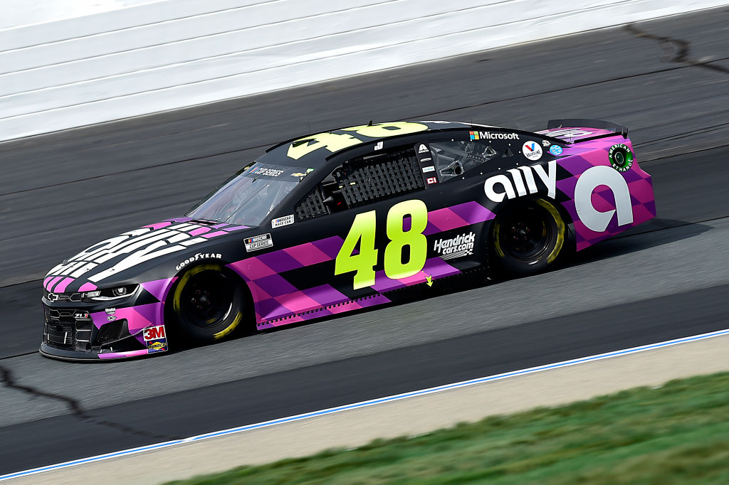 LOUDON, NEW HAMPSHIRE - AUGUST 02: Jimmie Johnson, driver of the #48 Ally Chevrolet, drives during the NASCAR Cup Series Foxwoods Resort Casino 301 at New Hampshire Motor Speedway on August 02, 2020 in Loudon, New Hampshire. (Photo by Jared C. Tilton/Getty Images) | Getty Images