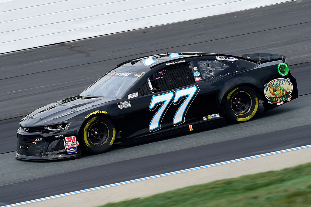LOUDON, NEW HAMPSHIRE - AUGUST 02: Garrett Smithley, driver of the #77 Spire Motorsports Chevrolet, drives during the NASCAR Cup Series Foxwoods Resort Casino 301 at New Hampshire Motor Speedway on August 02, 2020 in Loudon, New Hampshire. (Photo by Jared C. Tilton/Getty Images) | Getty Images