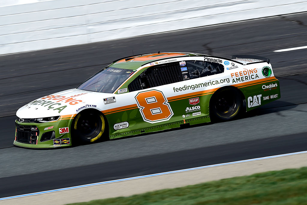 LOUDON, NEW HAMPSHIRE - AUGUST 02: Tyler Reddick, driver of the #8 Feeding America Chevrolet, drives during the NASCAR Cup Series Foxwoods Resort Casino 301 at New Hampshire Motor Speedway on August 02, 2020 in Loudon, New Hampshire. (Photo by Jared C. Tilton/Getty Images) | Getty Images