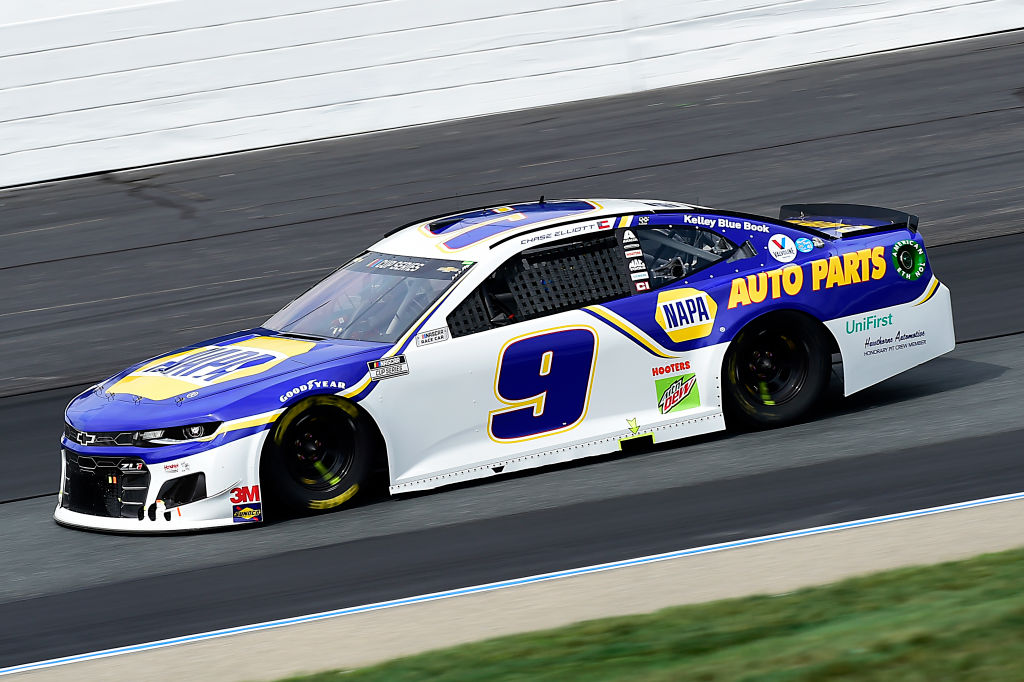 LOUDON, NEW HAMPSHIRE - AUGUST 02: Chase Elliott, driver of the #9 NAPA Auto Parts Chevrolet, drives during the NASCAR Cup Series Foxwoods Resort Casino 301 at New Hampshire Motor Speedway on August 02, 2020 in Loudon, New Hampshire. (Photo by Jared C. Tilton/Getty Images) | Getty Images