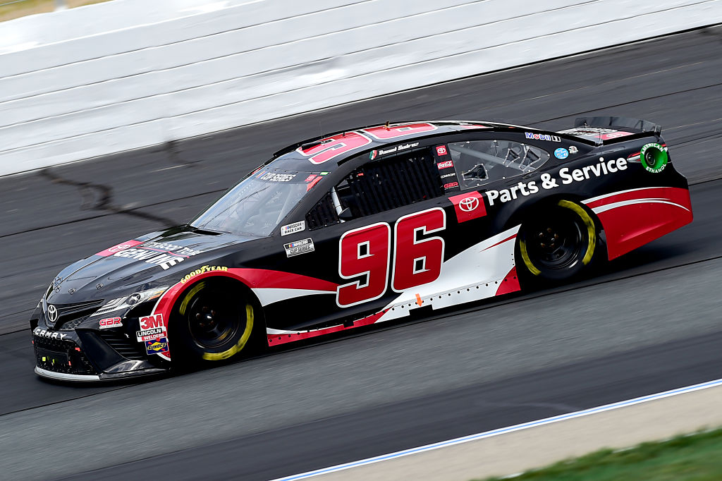 LOUDON, NEW HAMPSHIRE - AUGUST 02: Daniel Suarez, driver of the #96 Genuine Parts & Service Toyota, drives during the NASCAR Cup Series Foxwoods Resort Casino 301 at New Hampshire Motor Speedway on August 02, 2020 in Loudon, New Hampshire. (Photo by Jared C. Tilton/Getty Images) | Getty Images