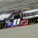 DOVER, DELAWARE - AUGUST 21: Spencer Davis, driver of the #11 Toyota, drives during the NASCAR Gander RV & Outdoors Truck Series KDI Office Technology 200 at Dover International Speedway on August 21, 2020 in Dover, Delaware. (Photo by Jared C. Tilton/Getty Images) | Getty Images