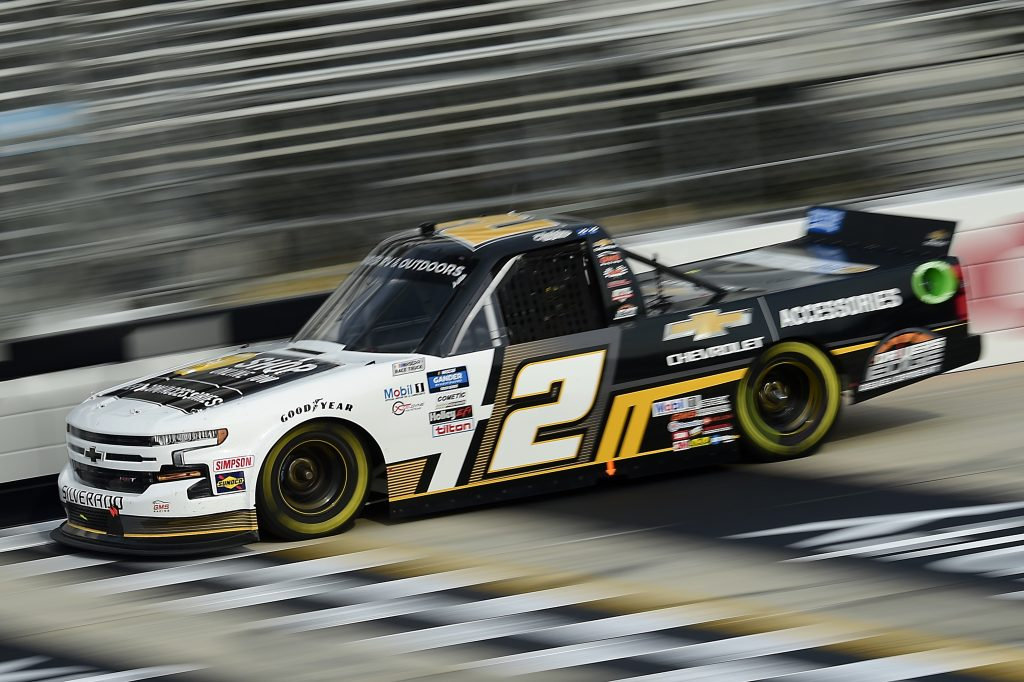 DOVER, DELAWARE - AUGUST 21: Sheldon Creed, driver of the #2 Chevy Accessories Chevrolet, drives during the NASCAR Gander RV & Outdoors Truck Series KDI Office Technology 200 at Dover International Speedway on August 21, 2020 in Dover, Delaware. (Photo by Jared C. Tilton/Getty Images) | Getty Images