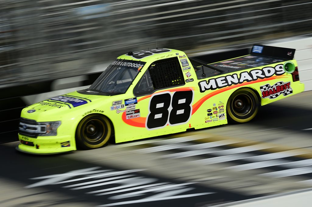 DOVER, DELAWARE - AUGUST 21: Matt Crafton, driver of the #88 Ideal Door/Menards Ford, drives during the NASCAR Gander RV & Outdoors Truck Series KDI Office Technology 200 at Dover International Speedway on August 21, 2020 in Dover, Delaware. (Photo by Jared C. Tilton/Getty Images) | Getty Images