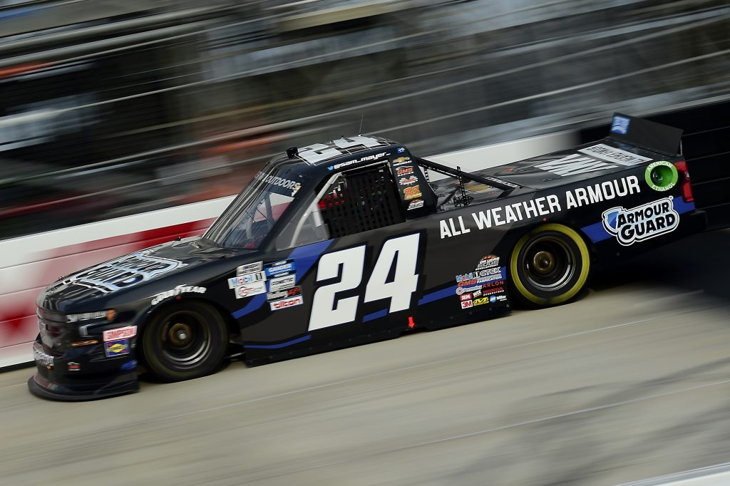 DOVER, DELAWARE - AUGUST 21: Sam Mayer, driver of the #24 All Weather Armour Chevrolet, drives during the NASCAR Gander RV & Outdoors Truck Series KDI Office Technology 200 at Dover International Speedway on August 21, 2020 in Dover, Delaware. (Photo by Jared C. Tilton/Getty Images) | Getty Images