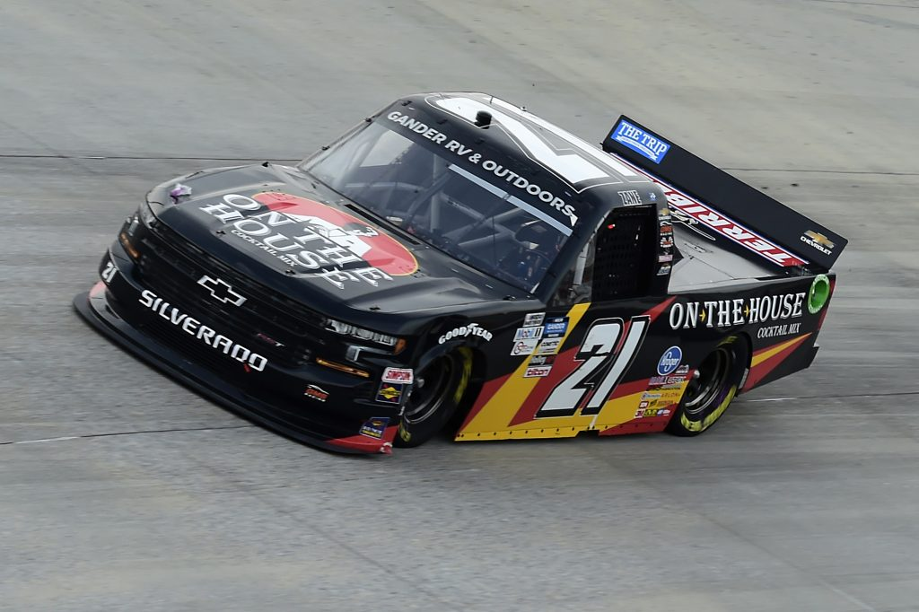 DOVER, DELAWARE - AUGUST 21: Zane Smith, driver of the #21 On The House Cocktail Mix Chevrolet, drives during the NASCAR Gander RV & Outdoors Truck Series KDI Office Technology 200 at Dover International Speedway on August 21, 2020 in Dover, Delaware. (Photo by Jared C. Tilton/Getty Images) | Getty Images