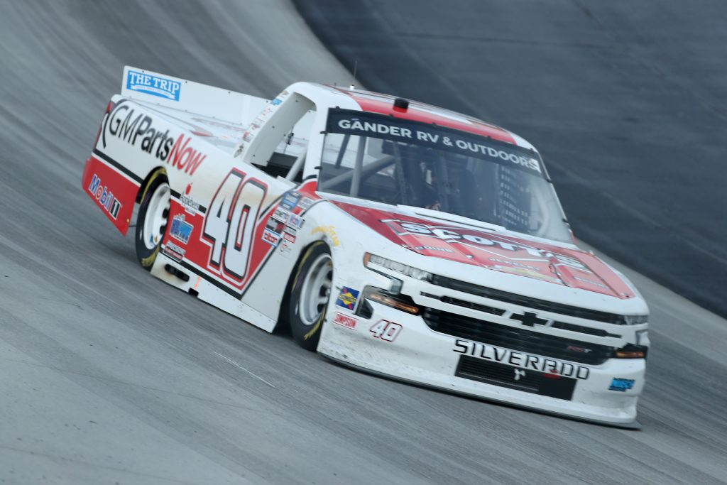 DOVER, DELAWARE - AUGUST 21: Carson Hocevar, driver of the #40 Scott's Chevrolet, drives during the NASCAR Gander RV & Outdoors Truck Series KDI Office Technology 200 at Dover International Speedway on August 21, 2020 in Dover, Delaware. (Photo by Hunter Martin/Getty Images) | Getty Images